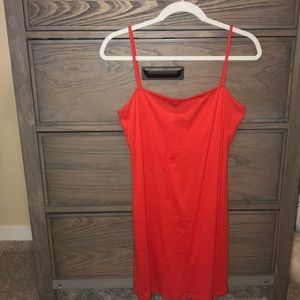 Topshop Orange Body-Con Mini Dress